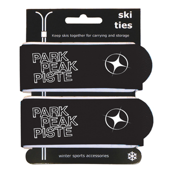 Manbi Pro-X Ski Ties Packed Black
