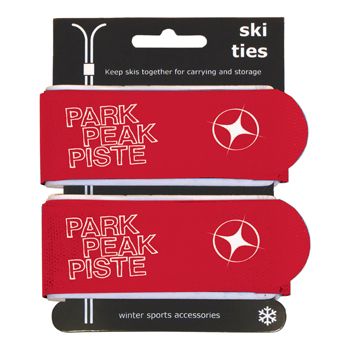 Manbi Pro-X Ski Ties Packed Red