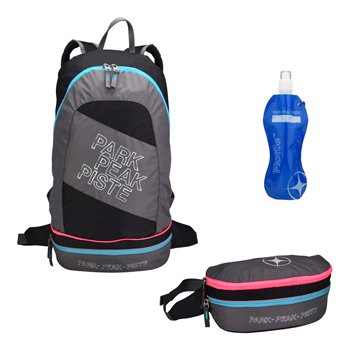 Mountain Pac Backpack 2 in 1 Rock-Blue-Pink