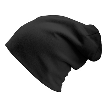 Manbi Long Beanie/Turn Up Black