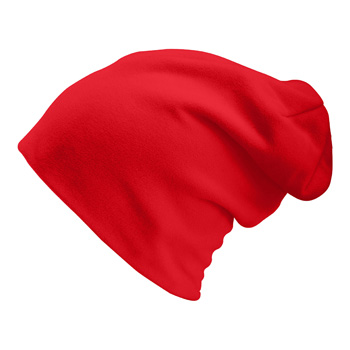 Manbi Long Beanie/Turn Up True Red