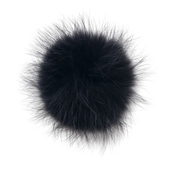 Manbi Real Fur Bobble Anthracite