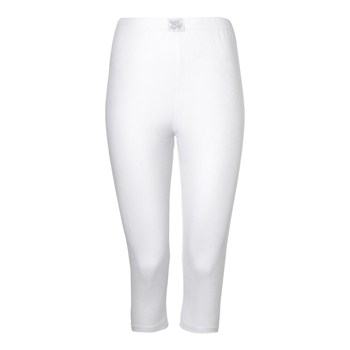 Manbi Ladies Supatec Long John 3/4 length White