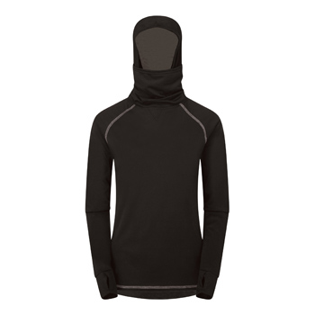 Manbi Adult Snow Warrior Supatherm Hoodie Black