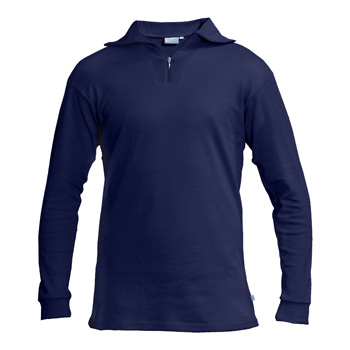 Manbi Adult Cotton Zip Polo Navy*