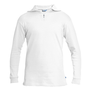 Manbi Adult Cotton Zip Polo White*