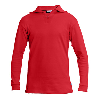 Manbi Adult Cotton Zip Polo True Red*