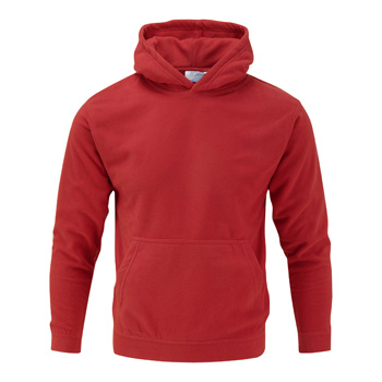 Manbi Adult Unisex Microfleece Hoodie True Red