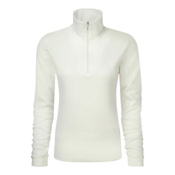 Manbi Ladies Microfleece Zip Winter White