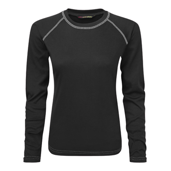 Manbi Ladies Fit Supatherm Top Black