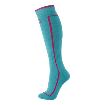 Manbi Performance Ski Sock Turquoise/Raspberry
