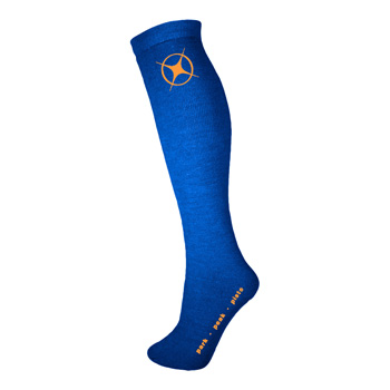 Manbi Performance Ski Sock Olympic Blue/Orange