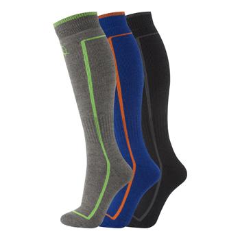 Manbi Performance Ski Sock Triple Pack Pack A