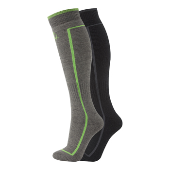 Manbi Performance Ski Sock Twin Pack Black/Rock