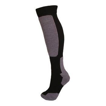 Manbi Snow-tec Sock Black/Grey