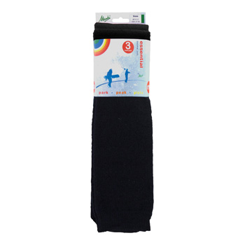Manbi Essential Tube Sock Triple Pack Black