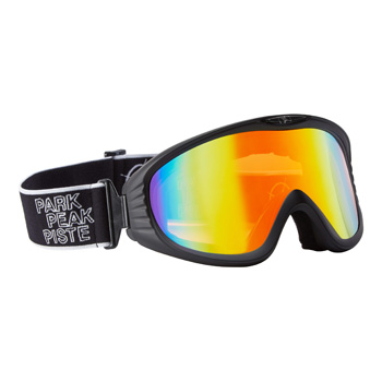 Manbi Vulcan Goggle Black Matt/Red Mirror