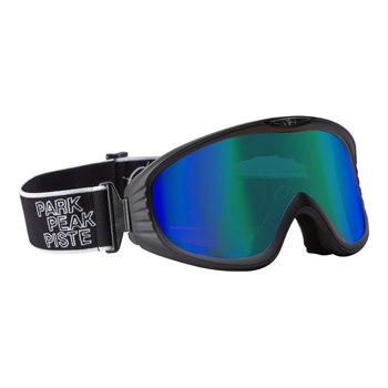 Manbi Vulcan Goggle Mirror Black Matt/Blue-Green Mirror