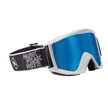 Manbi Apollo Goggle White Gloss/Blue Mirror