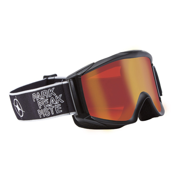Manbi Apollo Goggle Black Matt/Red Mirror