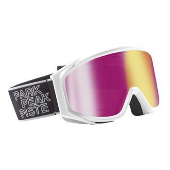 Manbi Spirit Goggle Mirror White-Gloss/Pink Mirror