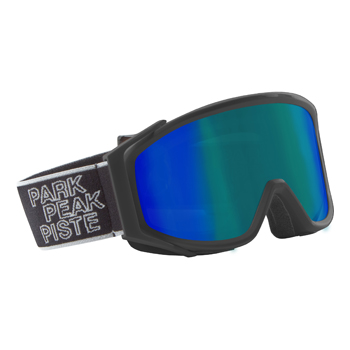 Manbi Spirit Goggle Mirror Black Matt/Blue-Green Mirror