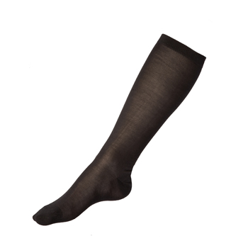 Manbi Adult Silk Sock Black